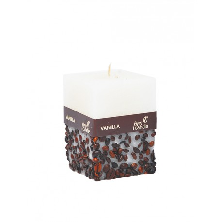 Scented candle ProCandle 072009 / cuboid / vanilla