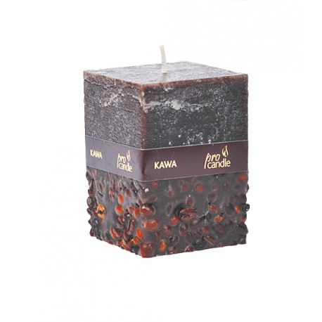 Scented candle ProCandle 072010 / cuboid / coffee