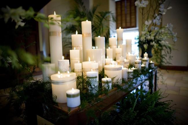 świece Jako Dekoracja Na ślub Pro Candle